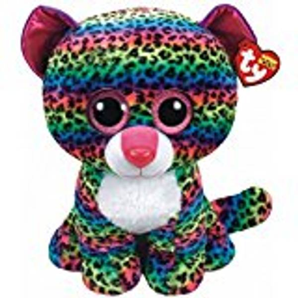 Beanie Boo Large Dot The Rainbow Leopard