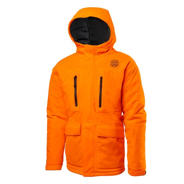 Men's Blaze Orange Quiet Buck Waterproof Insulated Parka