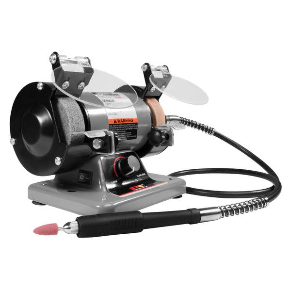 Performance Tool Mini Bench Grinder And Polisher