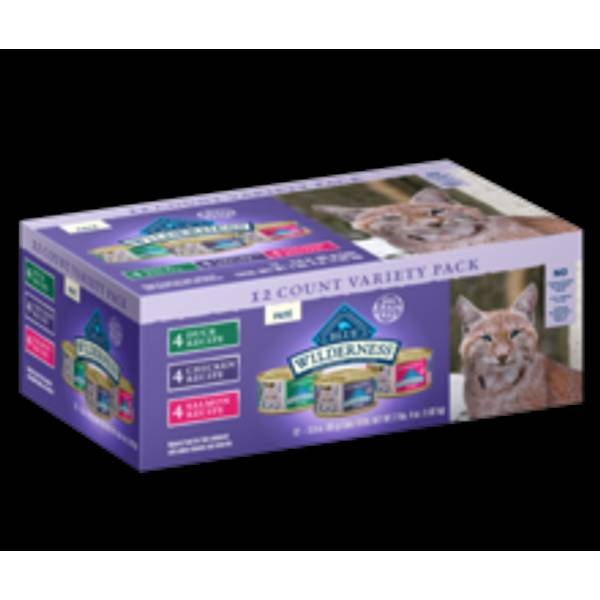 Wilderness 3 oz. Can Cat Food Variety Pack 12-Pack