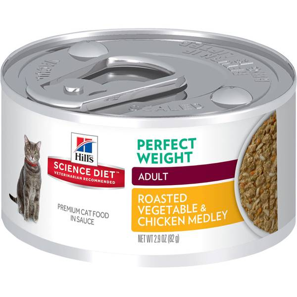 Diet Adult Perfect Weight Roasted Chicken and Vegetable Medley Cat Food