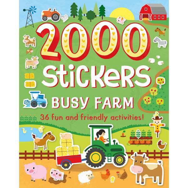 2000 Stickers Busy Farm Book