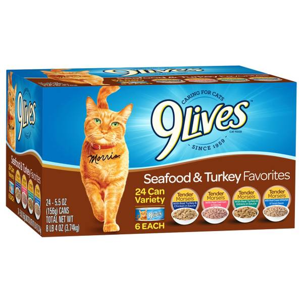 Turkey Favorites Canned Cat Food - 24 Pack