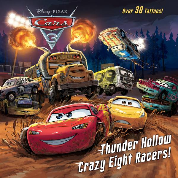 Disney Cars 3 Thunder Hollow Crazy Eight Racers Book
