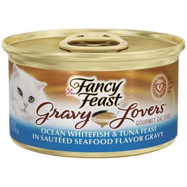 Gravy Lovers Ocean Whitefish & Tuna Feast in Sauteed Seafood Flavor Gravy