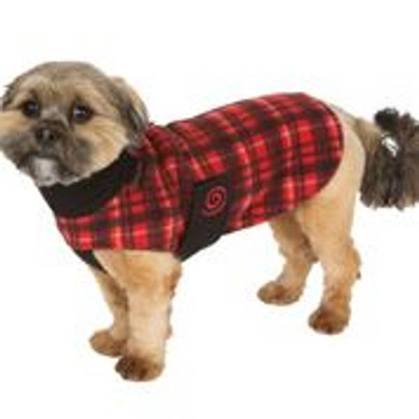 Red Plaid Cozy Coat for Dogs