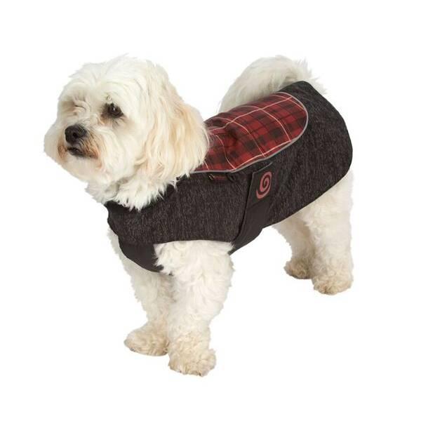 Comfy Red Plaid Reflective Comfort Coat