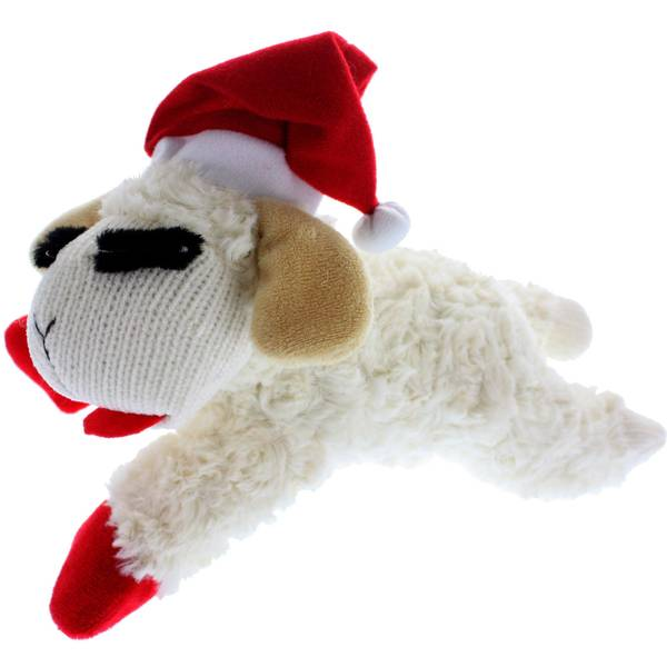 Holiday Lamb Chomp Dog Toy
