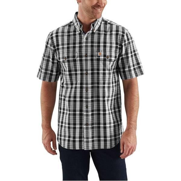 Men's Short Sleeve Fort Plaid Shirt