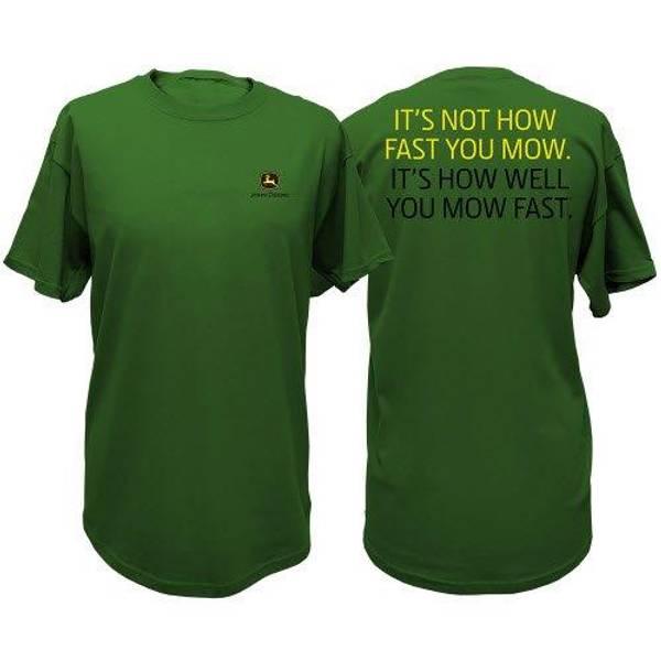 Men's Green Mow Catch Phrase Short Sleeve Tee