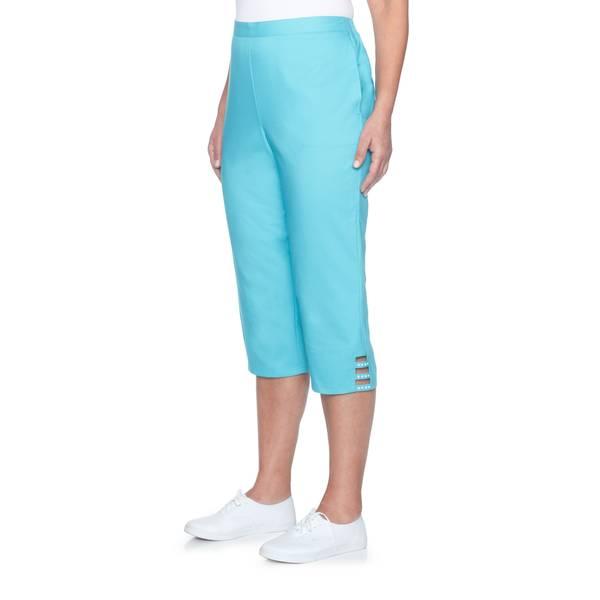 Misses Aqua Capri Pants