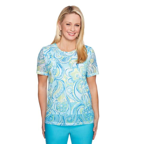 Misses Paisley Scroll Top