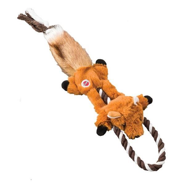 "14"" MINI Skinneeez Tugs Fox Dog Toy"