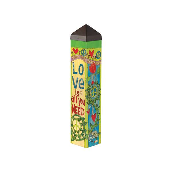 "20"" Love is All You Need Art Pole"