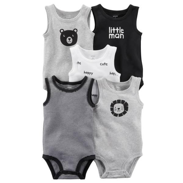 Baby Boys' 5-Pack Tank-Top Original Bodysuits