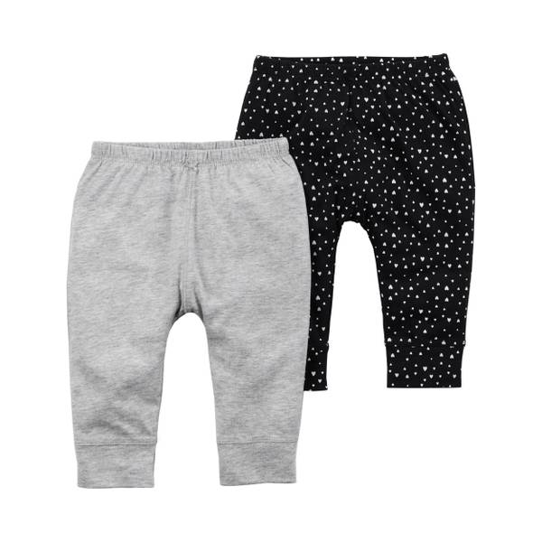 Baby Girls' 2-Pack Babysoft Pants