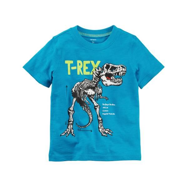 Toddler Boy's Blue T-Rex Jersey Tee