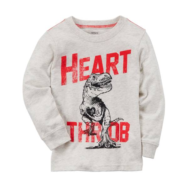 "Toddler Boy's Oatmeal ""Heart Throb"" Jersey Tee"