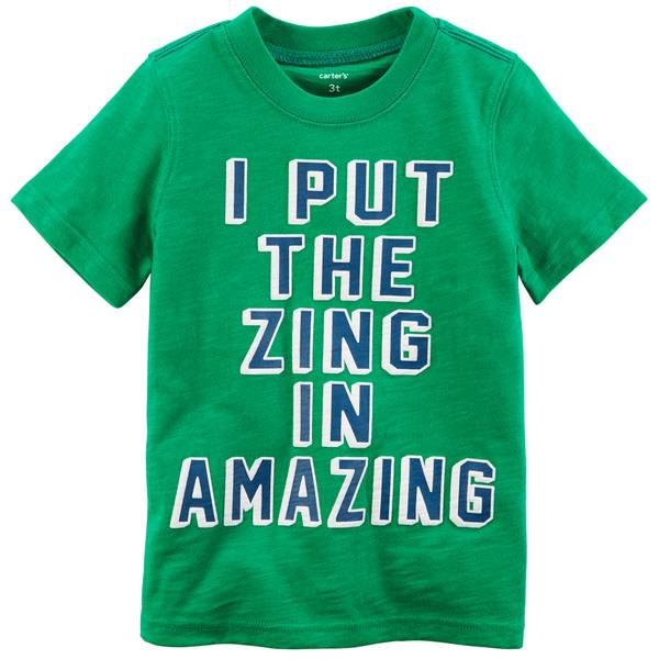 Toddler Boys' Green Short Sleeve Amazing Tee