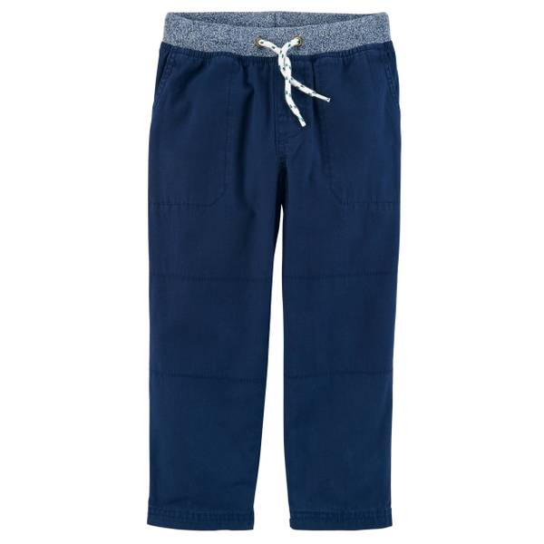 Toddler Boys' Navy Blue Canvas Pants