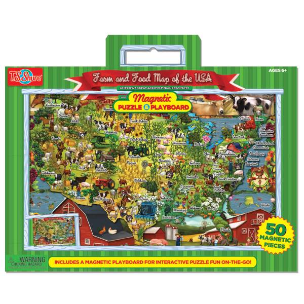 Food & Farm Magnetic Playboard & Puzzle