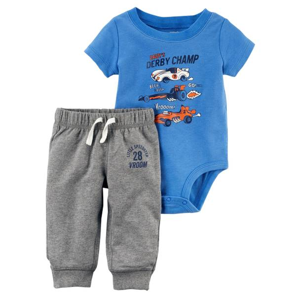 Baby Boys' 2-Piece Bodysuit Pant Set