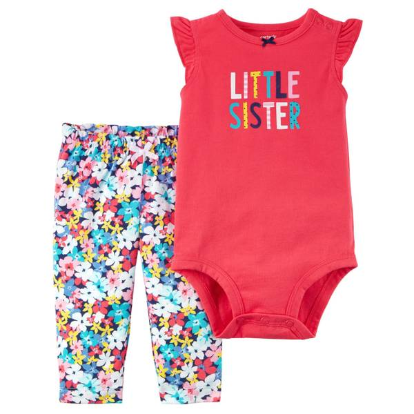Baby Girls' Little Sister 2 Piece Clothing Set