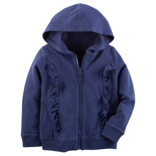Toddler Girls' Zip-Up French Terry Hoodie