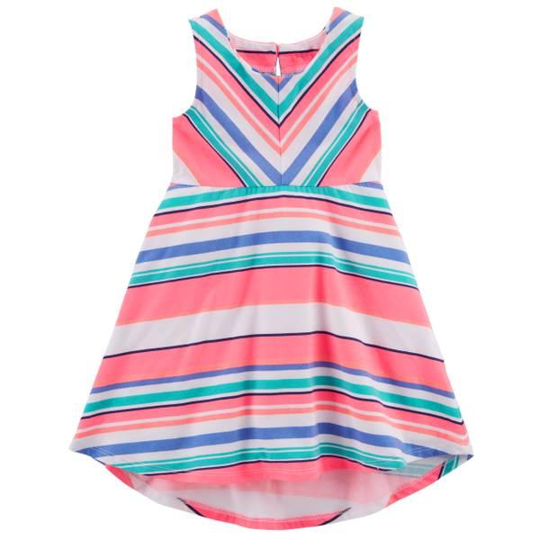 Sleeveless Jersey Dress Pink & White