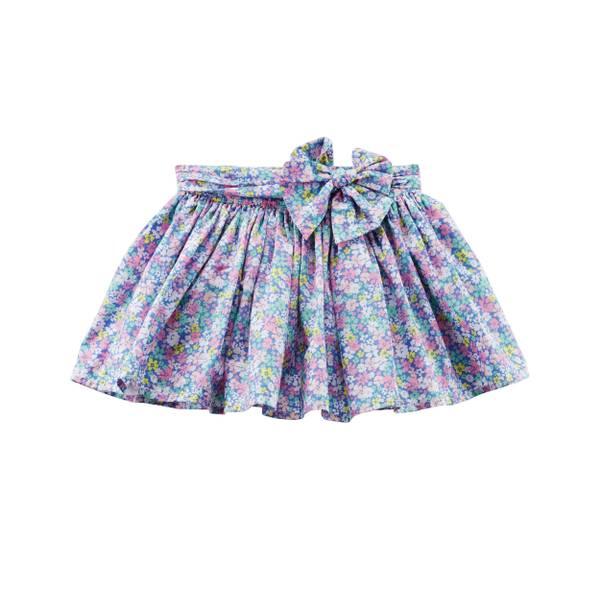 Little Girls' Floral Sheeting Skirt
