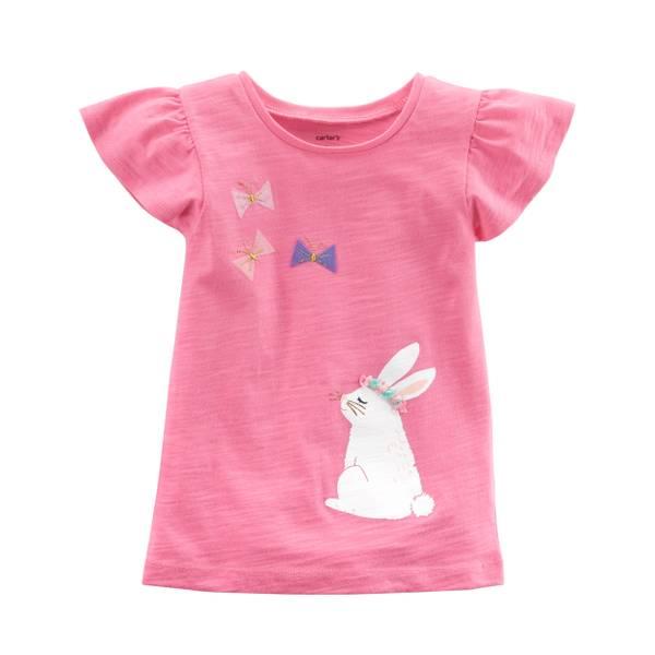 Little Girls' Flutter Sleeve T-Shirt
