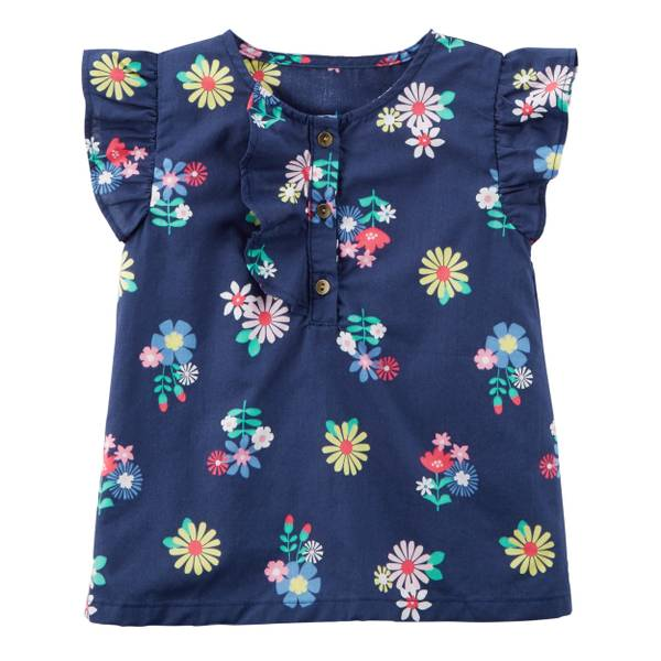 Little Girls' Flutter Sleeve Top