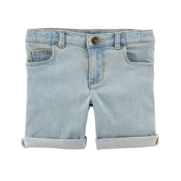 Roll Cuff Twill Shorts