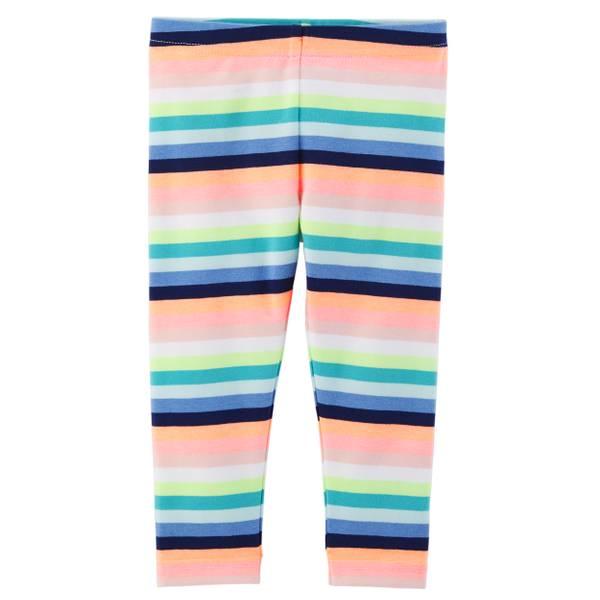 Little Girls' Patterned Capri Leggings