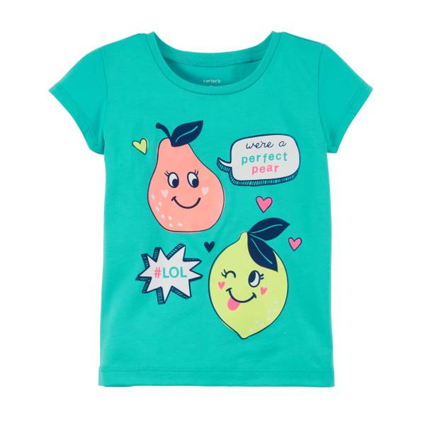 Little Girls' Turquoise Perfect Pear T-Shirt