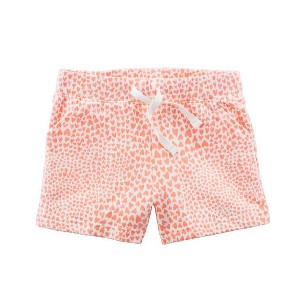 Little Girls' Pink French Terry Shorts