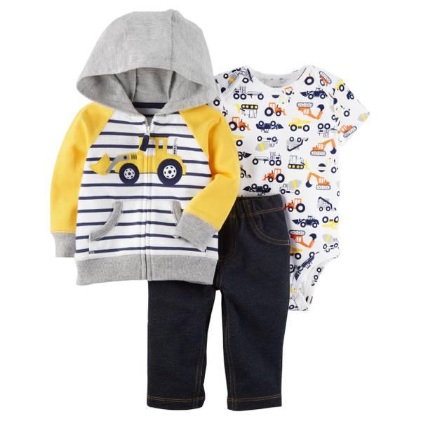 Infant Boy's Multi-Colored 3-Piece Little Jacket Set
