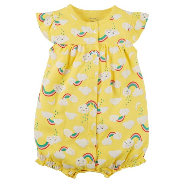 Baby Girl's Snap-Up Cotton Romper