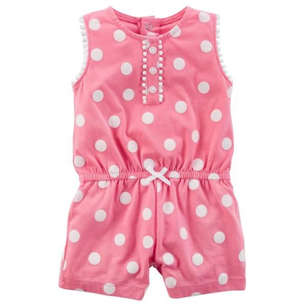 14a473392 Carter s Infant Girl s Pink Polka Dot Romper