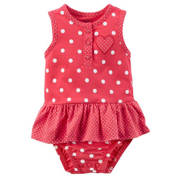 Little Girls' Sunsuit Dot Navy