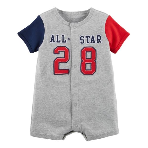 Little Boys' Romper All-Star Grey