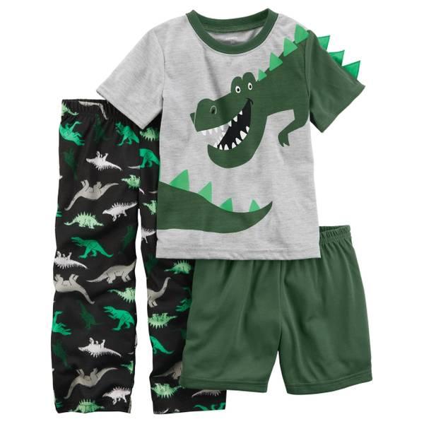 Toddler Boys' 3-Piece Jersey Pajamas