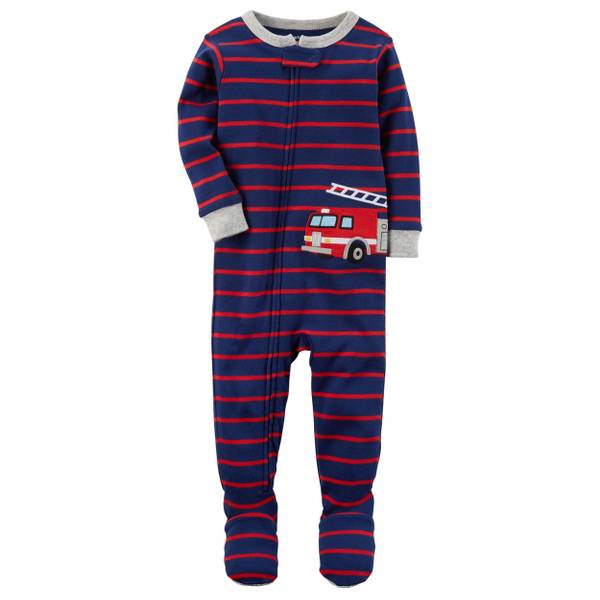 Infant Boy's Green 1-Piece Monster Snug-Fit Pajamas