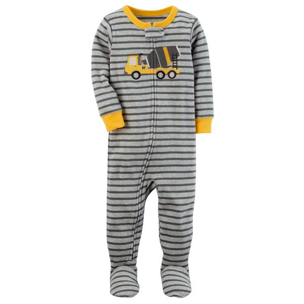 Little Boys' 1-Piece Polyester Sleepwear Shark Orange & Grey