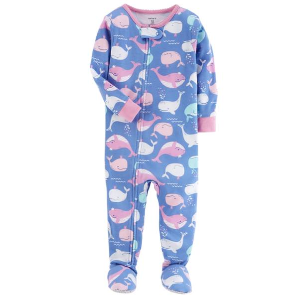 Baby Girls' Cotton 1-Piece Sleepwear