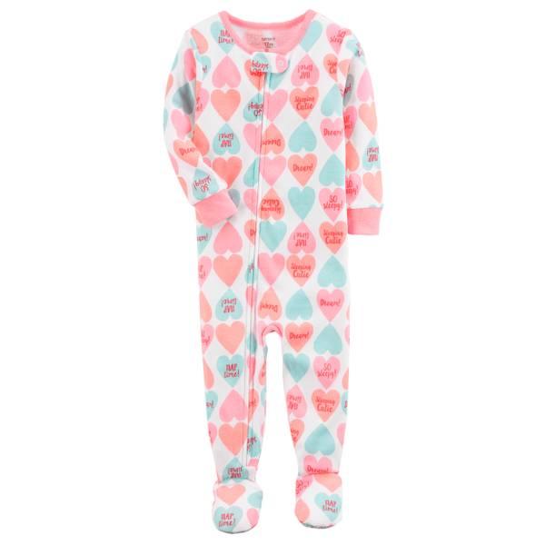 Baby Girls' Cotton 1-Piece Sleepwear
