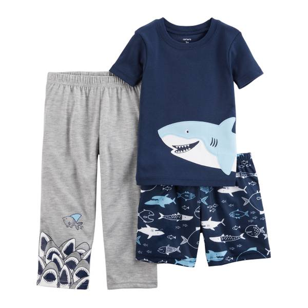 Baby Boys' 3-Piece Jersey Pajamas