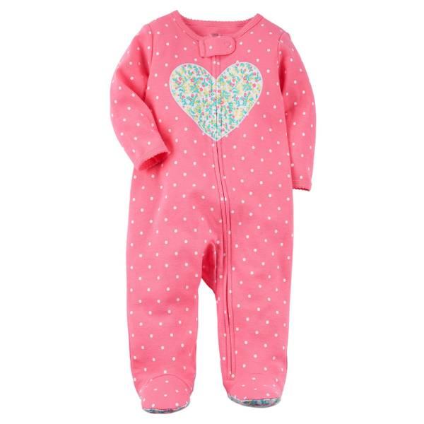 Baby Girl's Cotton Sleep & Play Pajamas