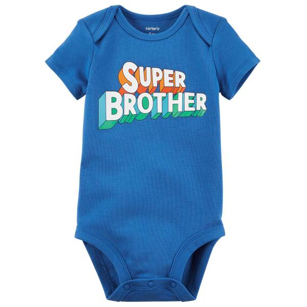 Baby Boy's Blue Short-Sleeve Collectible Bodysuit