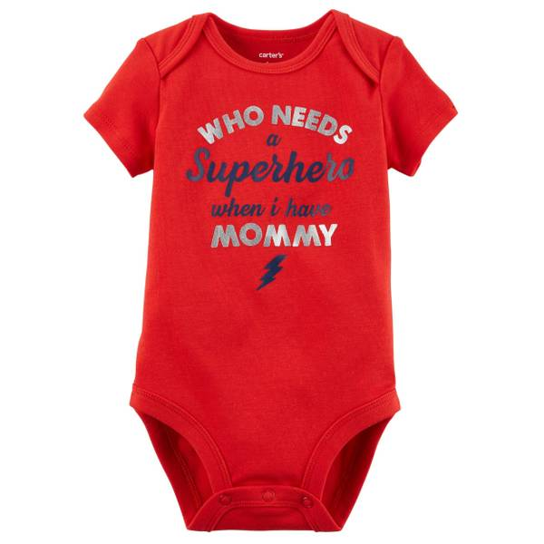 Infant Boy's Red Short Sleeve Collectible Bodysuit